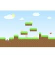 Arcade game world vector image vector image