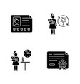 babysitter service black glyph icons set on white vector image vector image