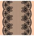 Black seamless lacy stripe vector image