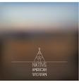 Blurred foggy landscape background vector image