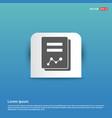 book icon - blue sticker button vector image