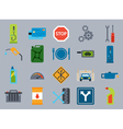 car service flat icons Vehicle maintenance and vector image vector image