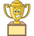 Cartoon Smiling Trophy vector image vector image