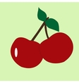 cherry fruit icon clipart vector image vector image
