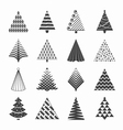 Christmas trees collection vector image