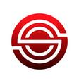 circle ball initial creative logo concept vector image vector image