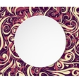Circle banner with floral ornament vector image