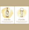 craft beer objects set hand drawn sketches vector image vector image