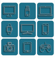 digital device icons vector image vector image