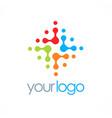 dot colorful circle technology logo vector image vector image