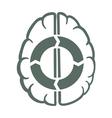 endless brain process vector image vector image