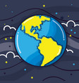 exploration earth planet in the galaxy space vector image vector image