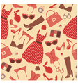 Fashion pattern vector image vector image