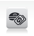 food price icon vector image vector image