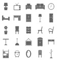 Furniture icons on white background vector image vector image