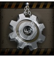 Gear with chain on metal vector image