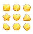 golden shapes set vector image vector image