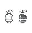 grenade line and glyph icon weapon and army bomb vector image vector image