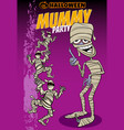 halloween holiday cartoon poster or invitation vector image vector image