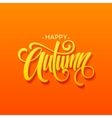 Happy Autumn calligraphy design Fall typographic vector image