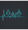 Heartbeat make family icon vector image vector image