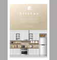Interior design Modern kitchen banner 2 vector image vector image