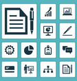 job icons set collection of chatting presenting vector image vector image