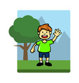 Kids Activity Stand vector image vector image