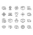 logistics and shipping icons truck delivery vector image