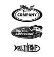 logo set for brand fishing company vector image