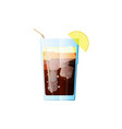 long island iced tea cocktail icon on dark vector image vector image