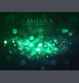 magic green background with bokeh and stars vector image vector image