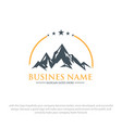 mountain logo designs vector image