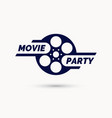 movie party emblem modern cinema sign vector image vector image