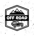 off-road extreme club monochrome vintage vector image