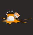paint pot and brush vector image