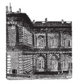 part of the back of the pitti palace at florence vector image vector image