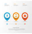 person icons set collection of group gentleman vector image vector image