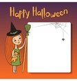 Postcard Happy Halloween vector image
