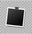 realistic photo frame with hanging binder vector image