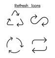 refresh icon set in thin line style vector image vector image
