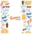 seamless borders summer vacation vector image