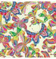 seamless butterflies vector image vector image