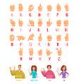 sign language alphabet set vector image