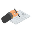 sign tax invoice icon isometric style vector image