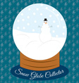 Snow Globe Collector vector image vector image