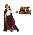 standing vampire with wineglass in hand vector image vector image