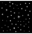 Star background seamless pattern vector image