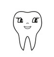 teeth smile icon vector image
