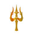 trident of shiva- trishul sacred symbols of shiva vector image